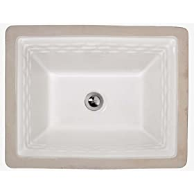 American Standard 0615.000.020 Rattan Vitreous China Undercounter Sink, White