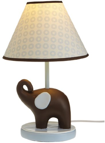Carter's Lamp Base & Shade in Blue Elephant