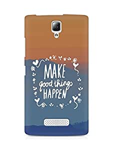 AMEZ make good things happen Back Cover For Lenovo A2010