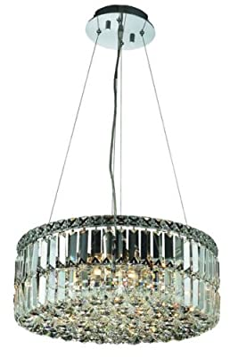 Elegant Lighting 2030D20C/RC Maxim 7.5-Inch High 12-Light Chandelier, Chrome Finish with Crystal (Clear) Royal Cut RC Crystal