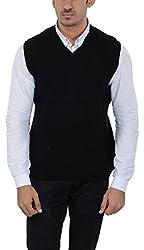 Aarbee Mens Woolen Sweater (Reversible S-L04, Black, Medium)