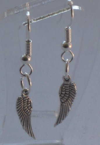 Angel Wings Biker Wings Dangle Earrings