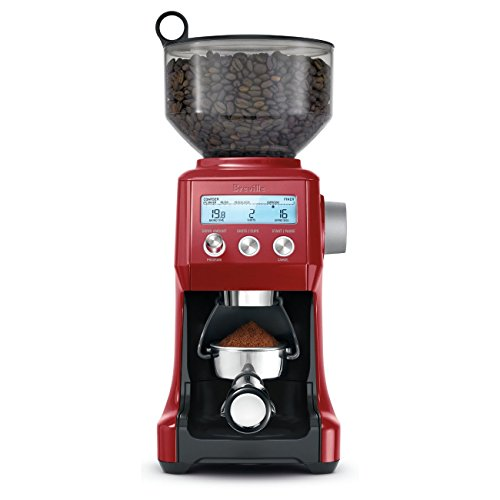 Best Price! Breville BCG820BCRNXL The Smart Grinder Pro Coffee Bean Grinder, Cranberry Red