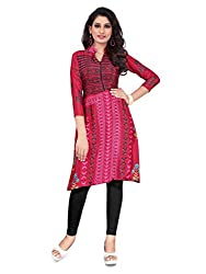 Women Icon Pink Printed Semi-Stitched Kurti WICLE11496_XL