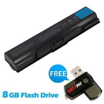 BattPit Notebook Akku für Toshiba Satellite L500-208 (6600 mah) bei kostenlosem 8GB Battpit USB-Stick