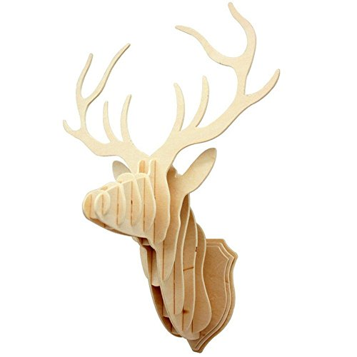 wooden-deer-head-diy-wood-veneer-shape-puzzle-art-model-kit-toy-home-decoration
