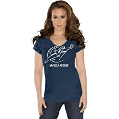 Washington Wizards Ladies Field Goal V-Neck T-Shirt Navy Touch by Alyssa Milano by Touch Alyssa Milano