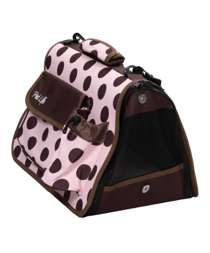 Pet Life Airline Approved Designer Polka Dot Casual Zippered Pet Carrier, Large front-151387