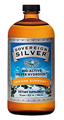 Sovereign Silver Bio-Active Silver Hydrosol for Immune Support - 10 ppm