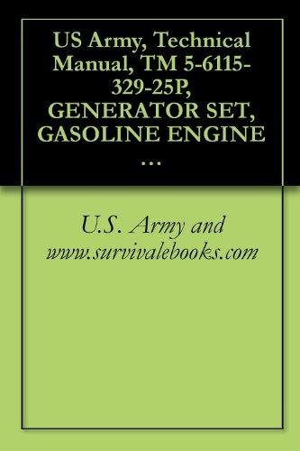 U.S. Army and www.survivalebooks.com - US Army, Technical Manual, TM 5-6115-329-25P, GENERATOR SET, GASOLINE ENGINE DR, (LESS ENGINE), 0.5 KW, AC, 120/240 V, 60 HZ, 1 PHASE, DOD MODEL, (FSN (English Edition)