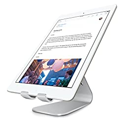 iPad Stand, IN Aluminium Alloy Tablet iPad Dock for iPad Air iPad Mini and Samsung Tablets, other Tablets(Silver)