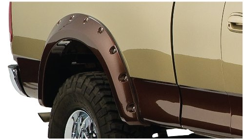 Bushwacker Ford Cut-Out Fender Flare - Rear Pair - OE Matte Black 20074-02 (2002 F150 Fender Flares compare prices)