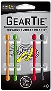 Nite Ize GT3-4PK-A1 Gear Tie Reusable 3-Inch Rubber Twist