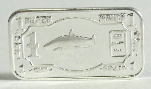 (3) 1 Gram .999 Pure Fine Solid Silver Great White Shark '2013 Endangered Animals Series-north america' Bullion Ingot Coin