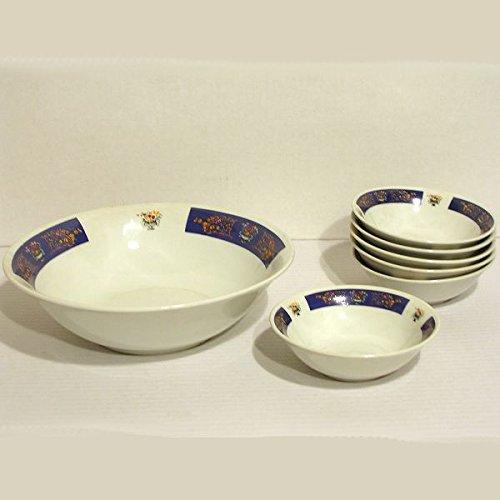 B.E.C. - Service à Crème porcelaine 7 Pièces décor bleu*