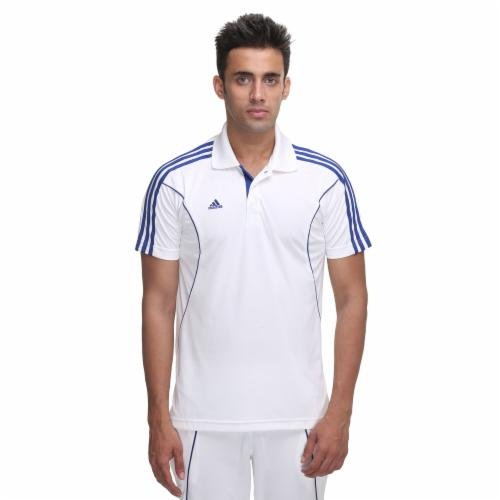 Adidas Adidas M37693 Core Regular Cricket Polo T-Shirt, Men's (Bahia Blue) (Multicolor)