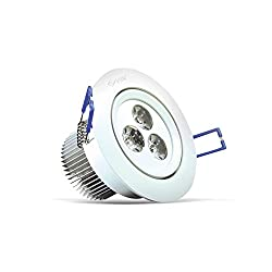 3W LED Down Lights Cool White Color, Replacement for 35W Halogen, 1 Year Warranty