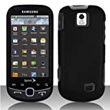 Samsung Intercept Moment 2 M910 Cell Phone Rubber Feel Black Protective Cas ....