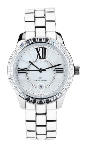 Carlo Monti Cosenza Women's Quartz Watch with White Dial Analogue Display and White Stainless Steel Bracelet CMZ01-181