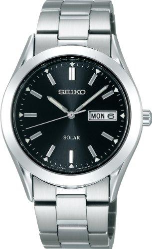 [セイコー]SEIKO 腕時計 SPIRIT スピリット ソーラー ブラック SBPX009 メンズ