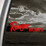 RANGER BOATS Red Decal Car Truck Bumper Window Red Sticker