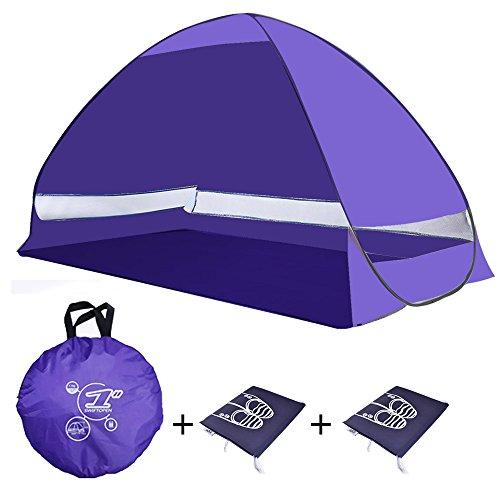 Outdoor-Automatische-Pop-Up-Zelt-UV-Schutz-Sonnenschutz-Obdach-Camping-Wandern-Fischen-Picknick-Strand-Sommer-Zelt-Cabana2-Erwachsene-Kinder-Free-Schuhe-Staubbeutel-violett