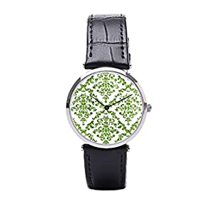 Dr. Koo Cool Best Wrist Watch For Men Damask Distressed Leather Watch
