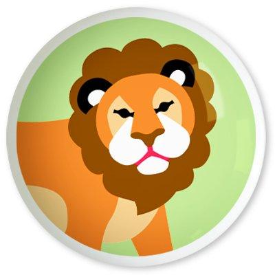 Kids Lion Drawer Knob - Wild Animals Collection (2 Pack) front-961717
