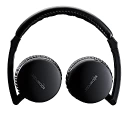 Boompods Skypods Wireless Fold-Flat Travel Bluetooth Headphones with USB Charging Cable Audio Cable - Black