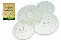 Ecov-8 Versatile Silicone Suction Lids (Clear Ice) - Small Set of 4 - (2) 6\
