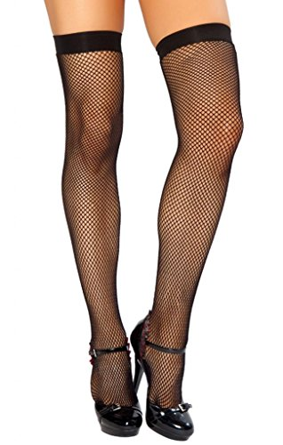 Sexy Fishnet Thigh High Stockings Halloween Accessory