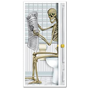 Beistle Company Mens Skeleton Restroom Door Cover