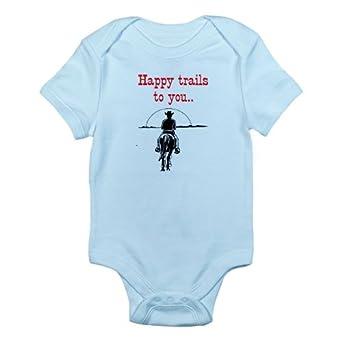 Amazon.com: CafePress HAPPY TRAILS Infant Bodysuit: Clothing