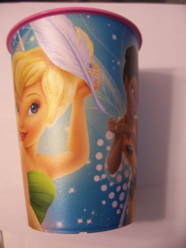 Disney Fairies 16 oz Plastic Party Cup by Hallmark (Rosetta, Tinkerbell, Iridessa)