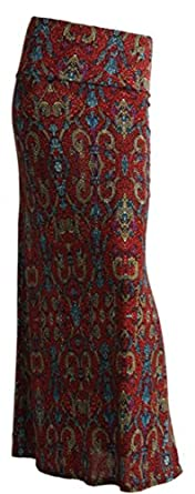 Gravity Threads Pattern Women's Poly Span Maxi Vintage Jeweled Burgundy S