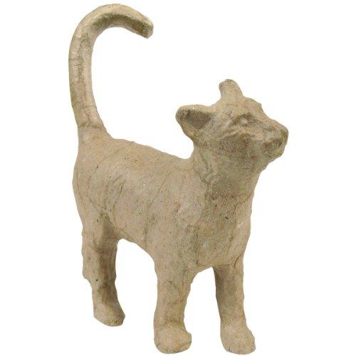 """Paper Mache Figurine 4.5""""-Cat"""