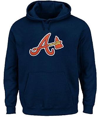 Atlanta Braves Navy Mens Majestic Scoring Position Hoodie Sweatshirt