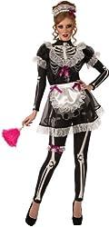 Rubie's Costume Glow In The Dark Skellie Maid Costume