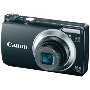 Canon Powershot A3300 16 MP Digital Camera with 5x Optical Zoom (Black) (OLD MODEL)