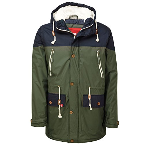 D555 -  Cappotto  - Parka - Uomo Khaki/Navy Medium