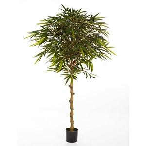 Bambou artificiel sur tige en pot 1535 feuilles 180 cm faux arbuste arbre artificiel - Tige bambou artificiel ...