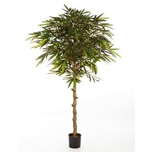 Bambou artificiel sur tige en pot 1920 feuilles 210 cm faux arbuste arbre artificiel for Comarbuste fruitier en pot