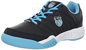 K-Swiss Women's Ultrascendor II Tennis Shoe,Black/Fiji Blue/White,7.5 M US