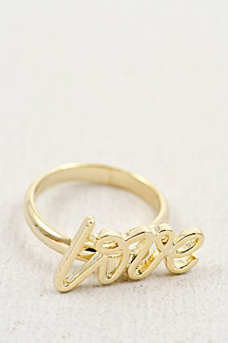 Trendy Fashion Jewelry Love One Size Ring By Fashion Destination | (Gold)