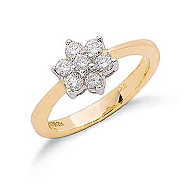 Elina H 9k Yellow Gold Diamond Ring 0.50CT I/SI-M