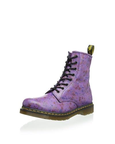 Dr. Martens Women's 1460 Boot  - Bright Purple Little Flowers