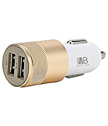 Metal Box MBCC25 Universal USB Car Charger (Golden)