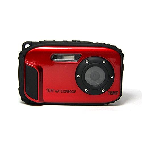 Stoga CGT002 2.7 pollici LCD della fotocamera digitale 16MP Camcorder impermeabile fotocamera Zoom Video registratore Video + 8 X Zoom gratis spedizione Action Cam-rosso