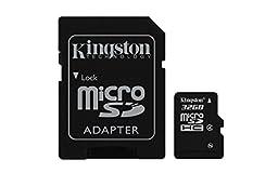 Kingston Digital 32 GB Class 4 microSDHC Flash Card with SD Adapter (SDC4/32GBET)
