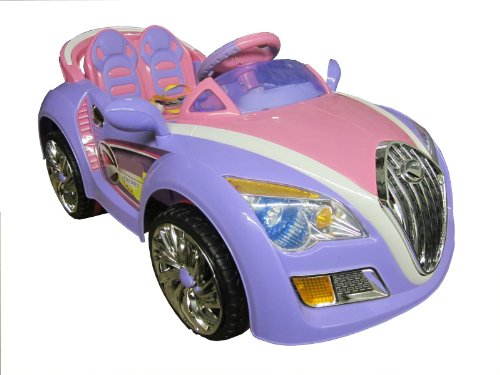 SPORTrax Bugati Style Kid's Ride On Car, Battery Powered, Remote Control, w/FREE MP3 Player - Purple